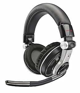 Trust GXT 26 - Auriculares de diadema abiertos USB (con micrófono), negro