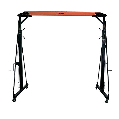 Titan Adjustable Telescoping Gantry Crane - 1000 lb Capacity - 1/2 Ton