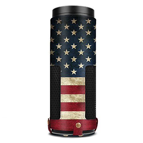 Fintie Protective Case for Amazon Echo (1st Generation) - Premium Vegan Leather Cover Sleeve Skins, US Flag
