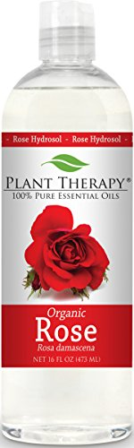 Plant Therapy Organic Rose Hydrosol. (Flower Water, Floral Water, Hydrolats, Distillates) Bi-Product of Essential Oils. 16 Ounce.
