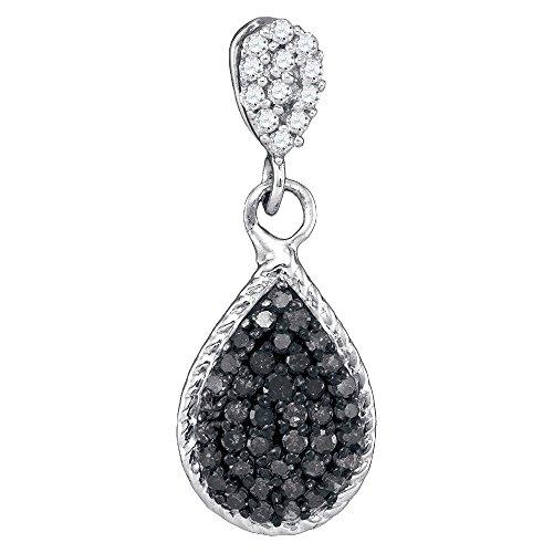 Black Diamond Cluster Pendant - 6