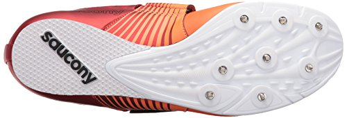 Saucony Men's Soarin J2 Track Shoe Red/Vizi Orange footaction cheap online s2JrA30vF