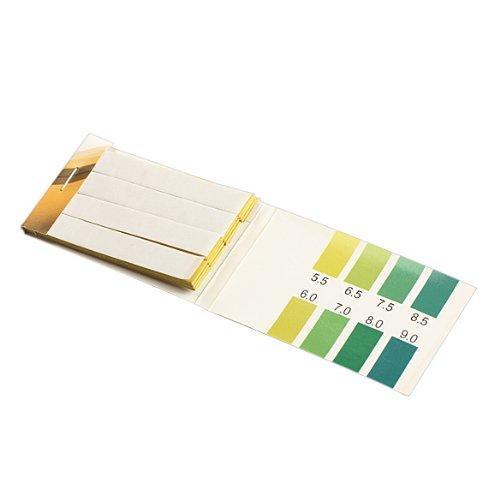 Pack of 80Pcs ACE Strips PH Range PH Alkaline Test Indicator Papers Lab Supplies (5.5-9.0 PH)