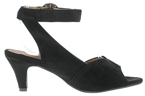 HIRSCHKOGEL Damen Sandalette 3003420 Sandalen Absatz Schwarz