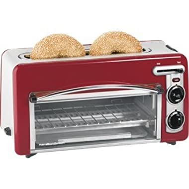 Hamilton Beach 22703 Toastation Toaster and Oven, Red