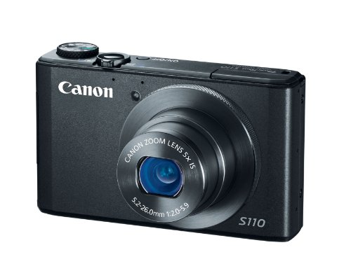Canon PowerShot S110 12MP Digital Camera with 3-Inch LCD (Black)