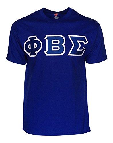 Sigma Letter - Mega Greek Mens Phi Beta Sigma Letter T-Shirt (Royal Blue, Large)