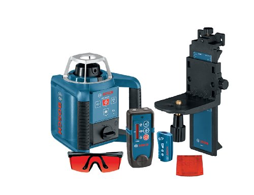Bosch Self-Leveling Rotary Laser with Layout Beam Interior Kit with Receiver, Remote and Wall Mount GRL 300 HVD ()