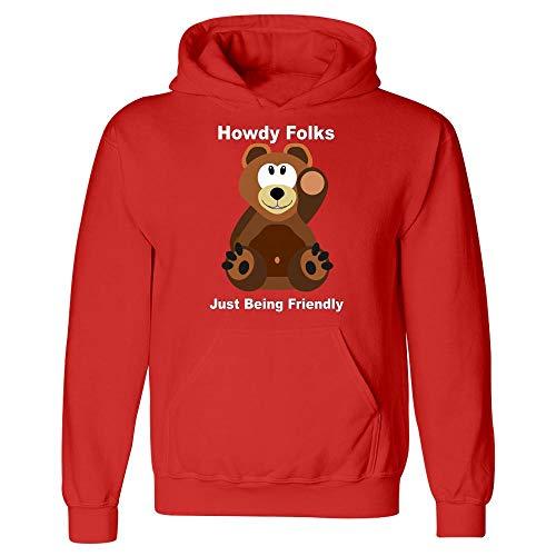 Teddy Bear Waving Hi and Welcoming You - Hoodie