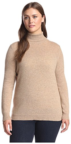 Cashmere Addiction Plus Women's Turtleneck Sweater, New C...