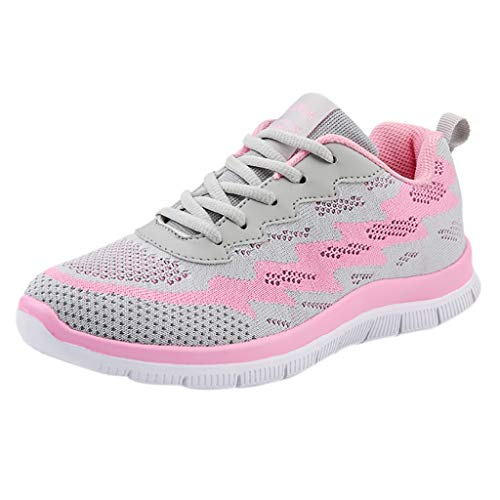 41 Deporte 2019 Aire Zapatos Calzado Deportivas Zapatillas Gris Estudiante De Mujer Logobeing Con Net Sneakers Gimnasia Tejidos Volar 35 Para Running Cojines E1BH4qx