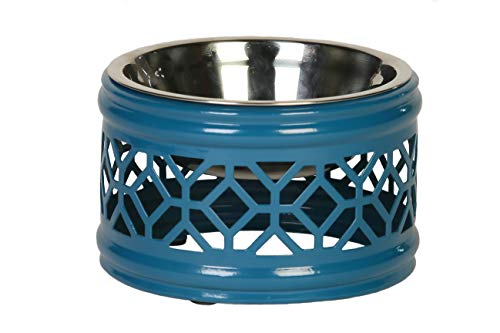 Unleashed Life Hadley Collection - Stainless Steel Dog and Cat Food & Water Bowl