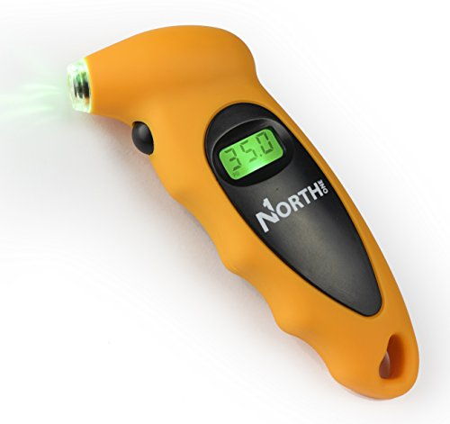 NorthONE 100 PSI Digital Tire LED Pressure Gauge with 4 Settings