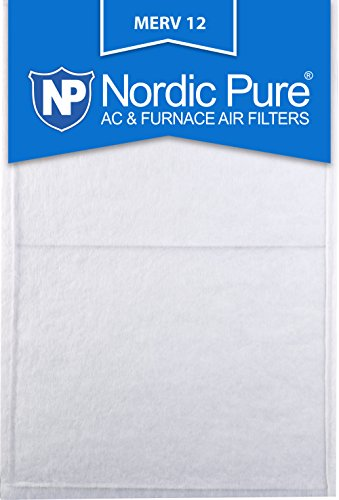 Nordic Pure 12x30x1/2 MERV 12 Half Inch Panel AC Furnace Air Filters, 6 Piece