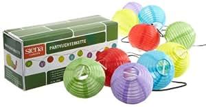 Siena Garden 734256 - Guirnalda de luces solares para fiestas (10 farolillos), colores variados