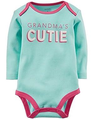 Carters Baby Girls Grandma's Cutie Bodysuit