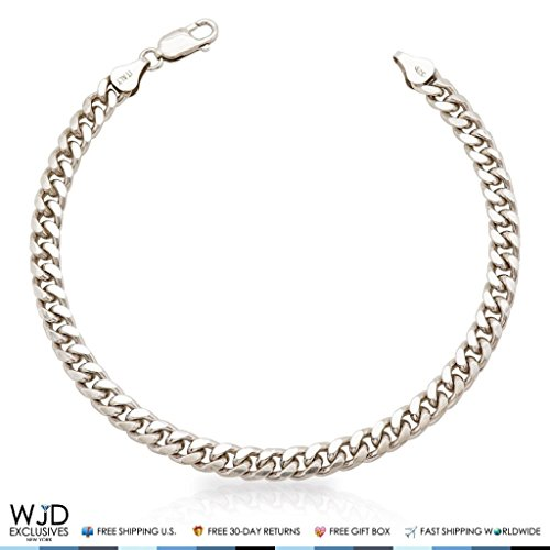 925 Sterling Silver 6mm Miami Cuban Link Bracelet 9'' by WJD Exclusives