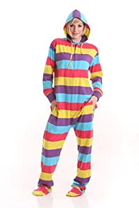 Funzee Adult Onesie Pjs Footed Pajamas Playsuit Jumpsuit XS-XXL(Size by Height)