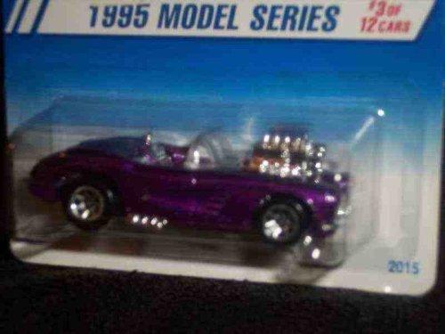 (1995 #3 '58 Corvette Coupe Pearl Purple 7-Spoke Malaysia Mint #341 1995 New Models)