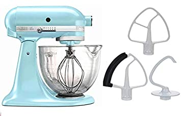 Kitchenaid 5 Quart Stand Mixer Glass Bowl Ice Blue