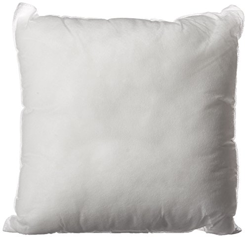 Set of 2 – Premium Hypoallergenic Stuffer Pillow Insert Sham Square Form Polyester, Standard/White – Made in USA
