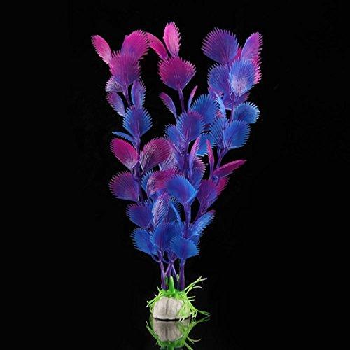 Joylive Artificial Water Plants Ornament for Fish Tank Aquarium Purple Blue Grass Plants Decoration ()