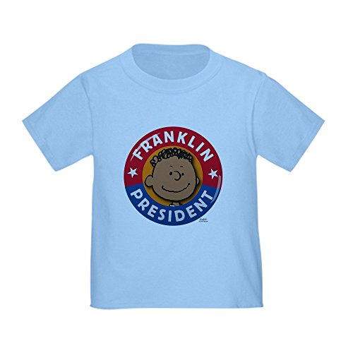 CafePress - Peanuts Franklin President - Cute Toddler T-Shirt, 100% Cotton Baby Blue