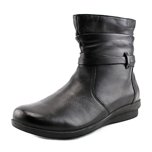 Leather Erin (ARRAY Womens Erin Leather Closed Toe Ankle Fashion Boots, Black, Size 6.0)