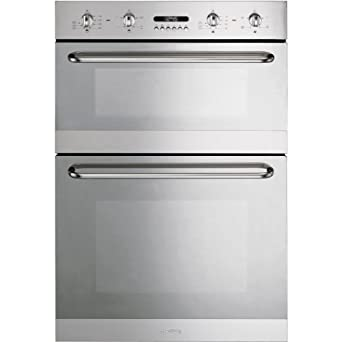 Smeg DOSC54X Cucina Multifunction Electric Built In Double Oven ...