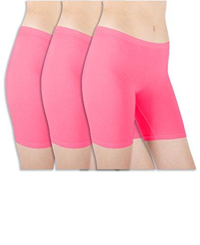 sexy-basics-womens-3-pack-sheer-sexy-cotton-spandex-boyshort-yoga-bike-shorts-x-large-8-deep-pink