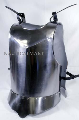 NAUTICALMART Medieval Times Shoulder Guard Steel breastplate One Size Fits Most Silver
