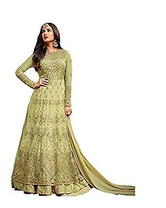 b7249e165a5 RUDRAPRAYAG Women s Vaishnavi Net + Santoon Party Wear Anarkali Gown ...