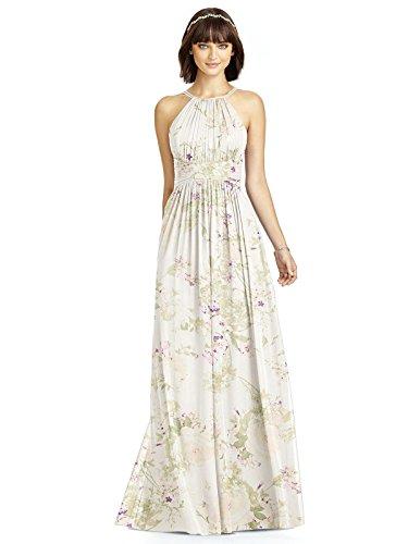 Dessy Style 2969 Floor Length Chiffon Shirred Skirt Formal Dress