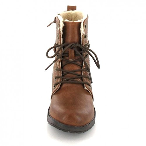 146 Boots Combat 462 Mädchen Indigo Cognac qYvxH6pw