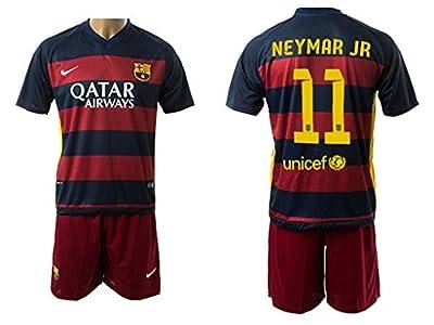 Neymar JR 11 Barcelona Soccer Jersey Kid's 2015/2016 Color Red/Blue Size XXL - 11/13 years