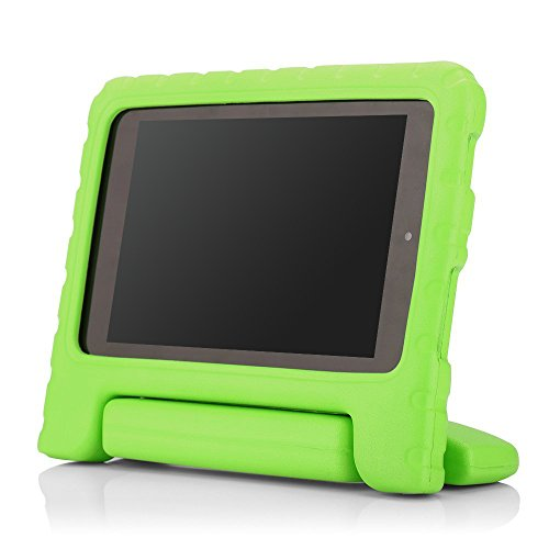 MoKo Case for Fire HD 6 - Kids Shock Proof Convertible Handle Light Weight Super Protective Stand Cover for Amazon Kindle Fire HD 6 Inch 2014 Tablet, GREEN - Kindle Stand Kindle Fire 6