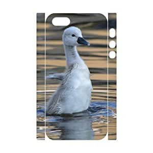 3D Baby Swan 2 For Iphone 5/5S Phone Case Cover Girls, For Iphone 5/5S Phone Case Cover Girls Cheap [White]