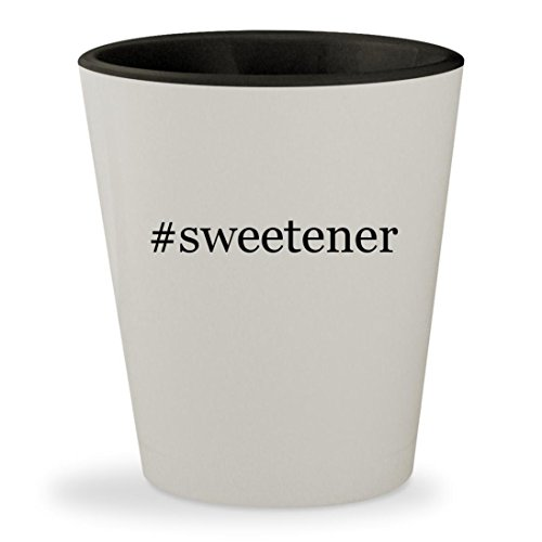 #sweetener - Hashtag White Outer & Black Inner Ceramic 1.5oz Shot Glass