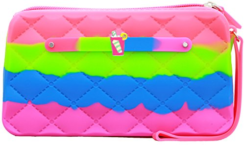 Scented Wristlet Purse - Yummy Gummy Silicone Clutch & Pink Lemonade Jewel - Style: Rockin Candy - Green Apple Scent -Girls & Teen Accessories  - Dress-Up