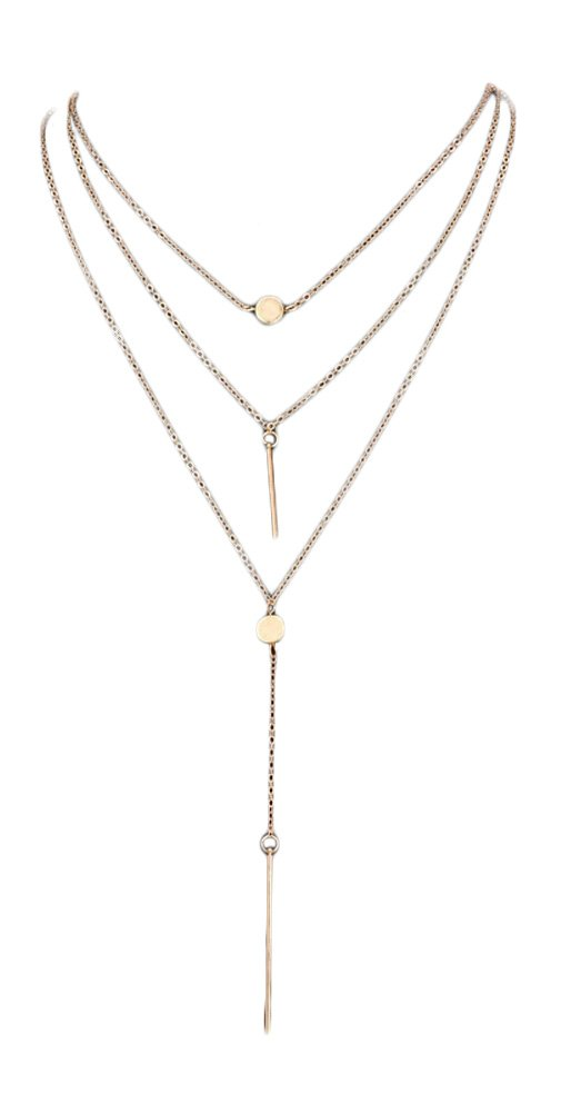 Blush and Bar Rayna Layered Necklace (Gold)