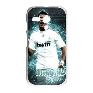 Motorola G Cell Phone Case White Cristiano Ronaldo vtoc