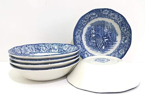 Liberty Blue Dinnerware - Liberty Blue Staffordshire Fruit/Dessert Bowl - Set of 6