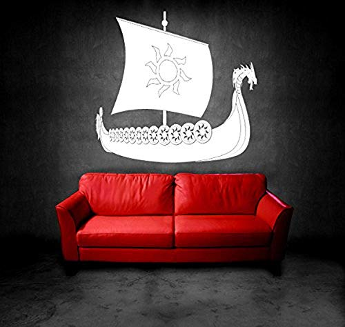 Room Design Pattern Art Ship Boat Greek Antic Sail Wall Decals Decor Vinyl Sticker SK11018