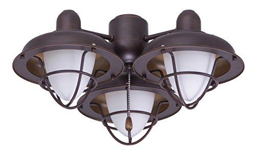 Emerson Ceiling Fan Light Fixtures Ceiling Fans LK40VNB Boardwalk Cage Light Kit for Ceiling Fans,  Medium Base CFL, Venetian Bronze Ceiling Lamp