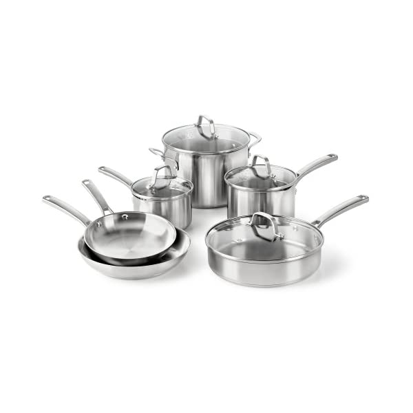 Calphalon Classic Stainless Steel Cookware Set 41Nf2UBnULL