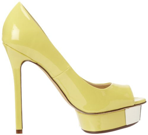 Luichiny Womens Free To Be Platform Pump Pale Yellow 0LPSSd9h3W