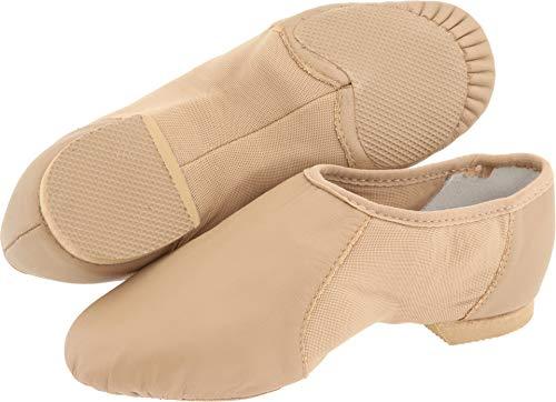 (Bloch Girl's Neo Flex Slip On Jazz Fashion Dance Shoes, Brown Leather, Suede, 13 Little Kid)