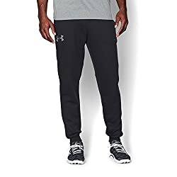 Under Armour Men's Rival Fleece Joggers, Blacksteel, Small
