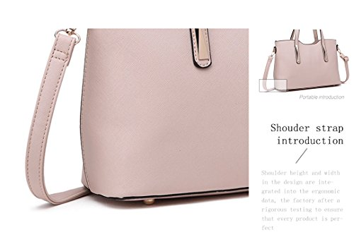 Lulu Fashion Bags 1719 for Pieces Miss Women Top Saffiano Handbags Handle Beige Tote 2 Pu Leather Ladies Shoulder FB8wqd