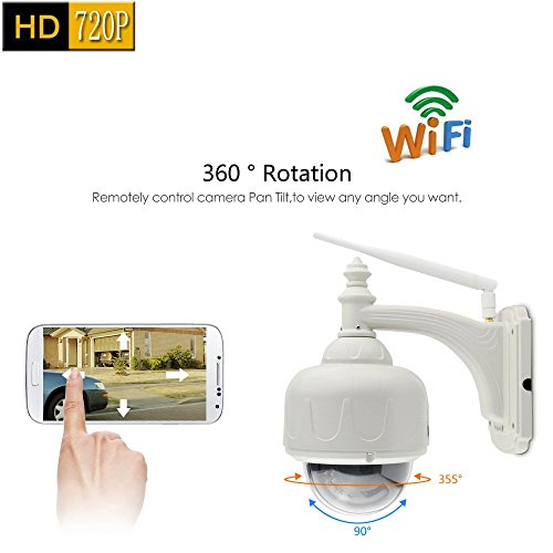 Vstarcam C7833WIP-X4 HD 720P P2P Outdoor Waterproof Wireless IP Camera WiFi Network Night Vision PTZ 4X Digital Zoom Pan/Tilt Onvif CCTV Megapixel Dome IR-Cut Maximum Support 64G TF Card Record